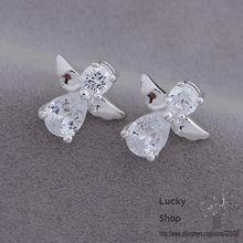 AE653 посеребренные серьги, серебряные ювелирные изделия, ангел/bwpaknwa eggamxna
