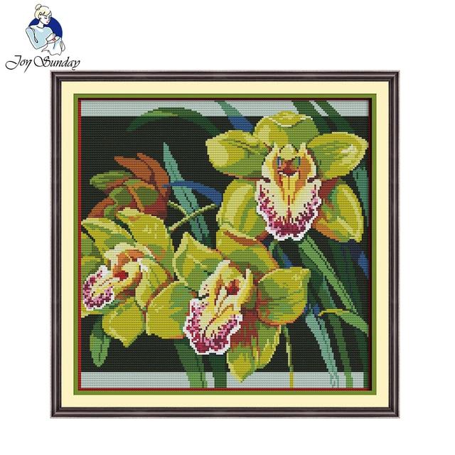 Joy Sunday orquídeas Cruz puntada ornamento Pegatinas para uñas ...