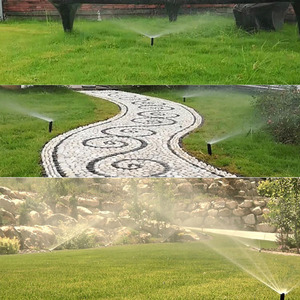 Image 2 - Adjustable Pop up Sprinklers with 1/2 Inch Female thread 90 360 degrees Automatic retractable Lawn Irrigation sprinkler 5 Pcs