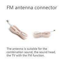 אנטנה עבור עבור דיפול אנטנה T הצורה מקורה בית שמע רדיו סטריאו כונס 1.5 75 אוהם רדיו FM אנטנה כבל נקבה F-סוג מחבר (1)
