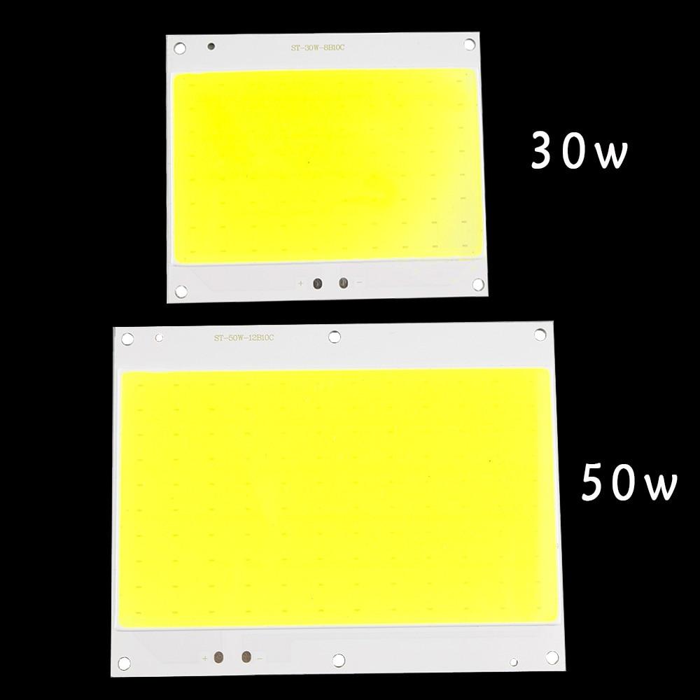 Led Lamp Cob Chip Beans DC30-33V Led Bulb SMD 30W 50W White 6500K DIY Outdoor FloodLight Spotlight Light project lighting 1pcs high power cob led chip 10w 20w 30w 50w 100w dc 10v 32v integrated source smd for floodlight spotlight warm white white outdoor