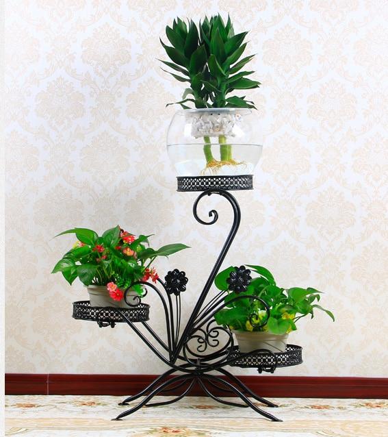 comprar  cm tamao grande balcn europeo fower macetas estante jardn jardineras de flores titular prgolas de metal hierro