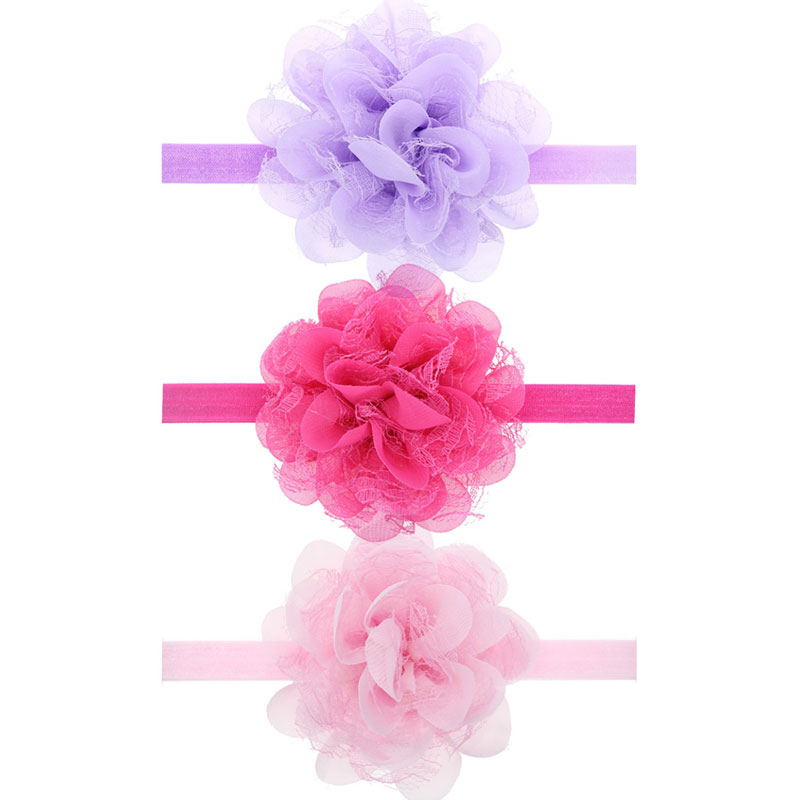 13 Colors Baby Girls Lace Flower Headband Infant Girls Hair Bands