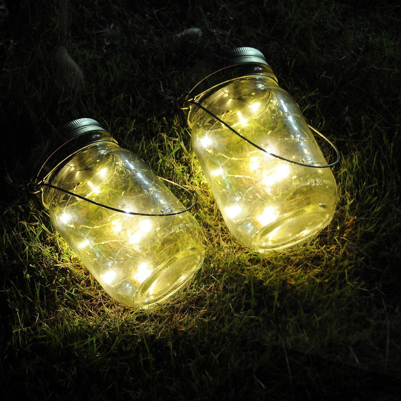 Battery Operated Mason Jar Insert LED Light String DIY Copper ...