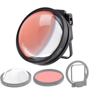 Image 3 - CAENBOO Action caméra objectif filtres Go Pro Hero 5 6 7 Super Macro 24X gros plan rouge plongée sous marine pour GoPro Hero5/6/2018 noir