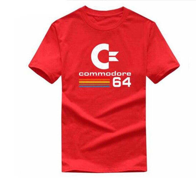 Commodore 64 Любители летом новый высококачественный бренд прилив пламени Хлопка Круглый воротник футболка с короткими рукавами