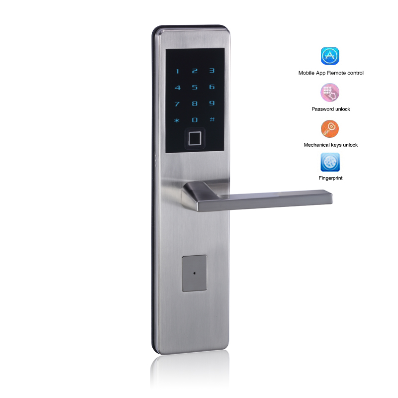 Wifi App Fingerprint Scanning Smart lock Intelligent Bluetooth Electronic keypad Number Door Lock Biometric Door Lock smart door lock electronic fingerprint door lock control digital keyless door lock biometric keypad double sided door lock