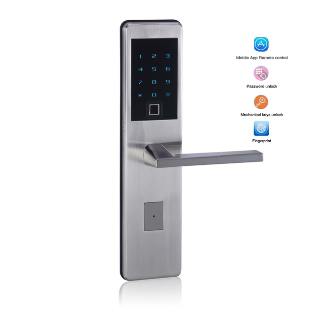 Wifi App Fingerprint Scanning Smart lock Intelligent Bluetooth Electronic keypad Number Door Lock Biometric Door Lock