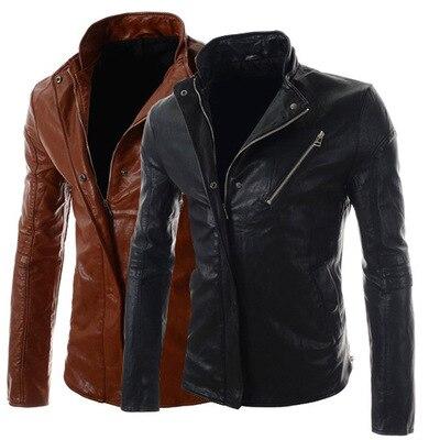 cba3b391b US $34.27  Spring 2015 EBAY collar men's slim men supply Korean locomotive  leather jacket men leather-in Jackets from Men's Clothing on Aliexpress.com  ...