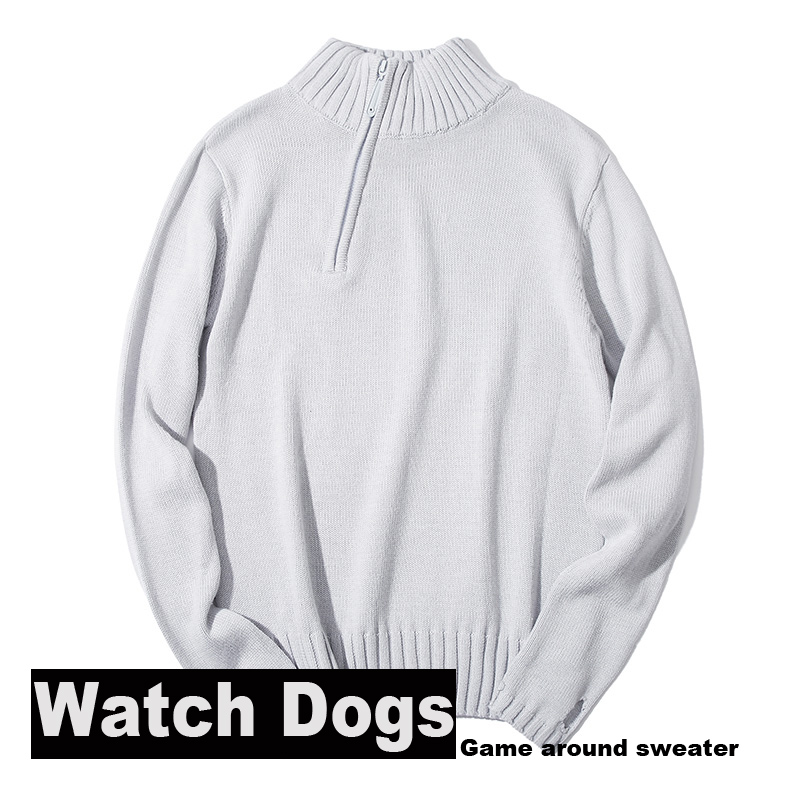 [Stock]S-3XL!Plus size Game Watch Dogs Aiden Pearce Cosplay Costume Adult Costumes Men's Knitwear Inner Knitted Winter Sweaters