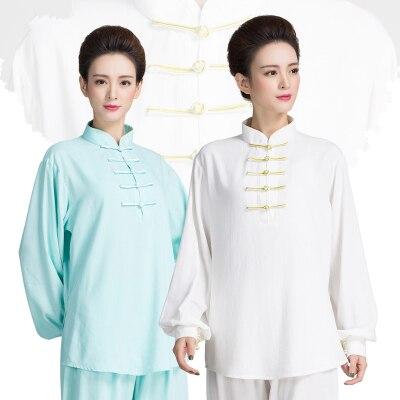 New Top Quality Women Autumn Winter Taichi   Suit Cotton Linen Kungfu Uniforms Martial Art   Sets Practice Clothings