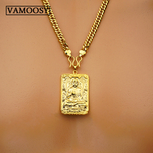 High Quality Unique Natural 24K gold Carved Buddha Lucky Amulet Pendant Necklace For Women Men Thailand Amulets pendants Jewelry