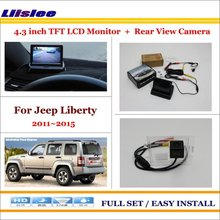 Auto Rear View Camera Back Up + 4.3″ LCD Monitor = 2 in 1 Parking Assistance System – For Jeep Liberty 2011~2015