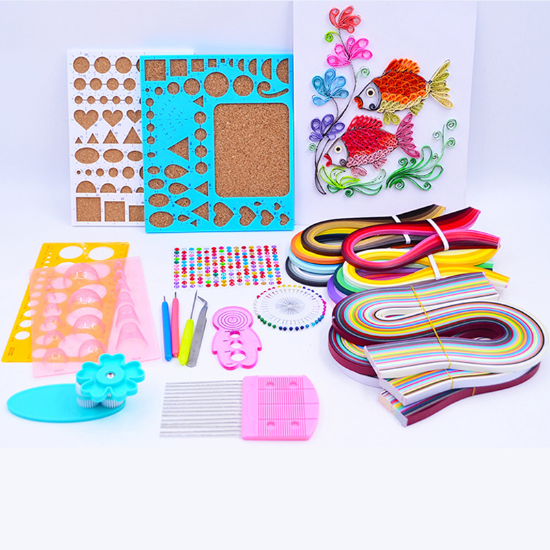 1 Set Starter DIY Tool Paper Quilling Rolling Tools Kit Mould Needles Tweezer