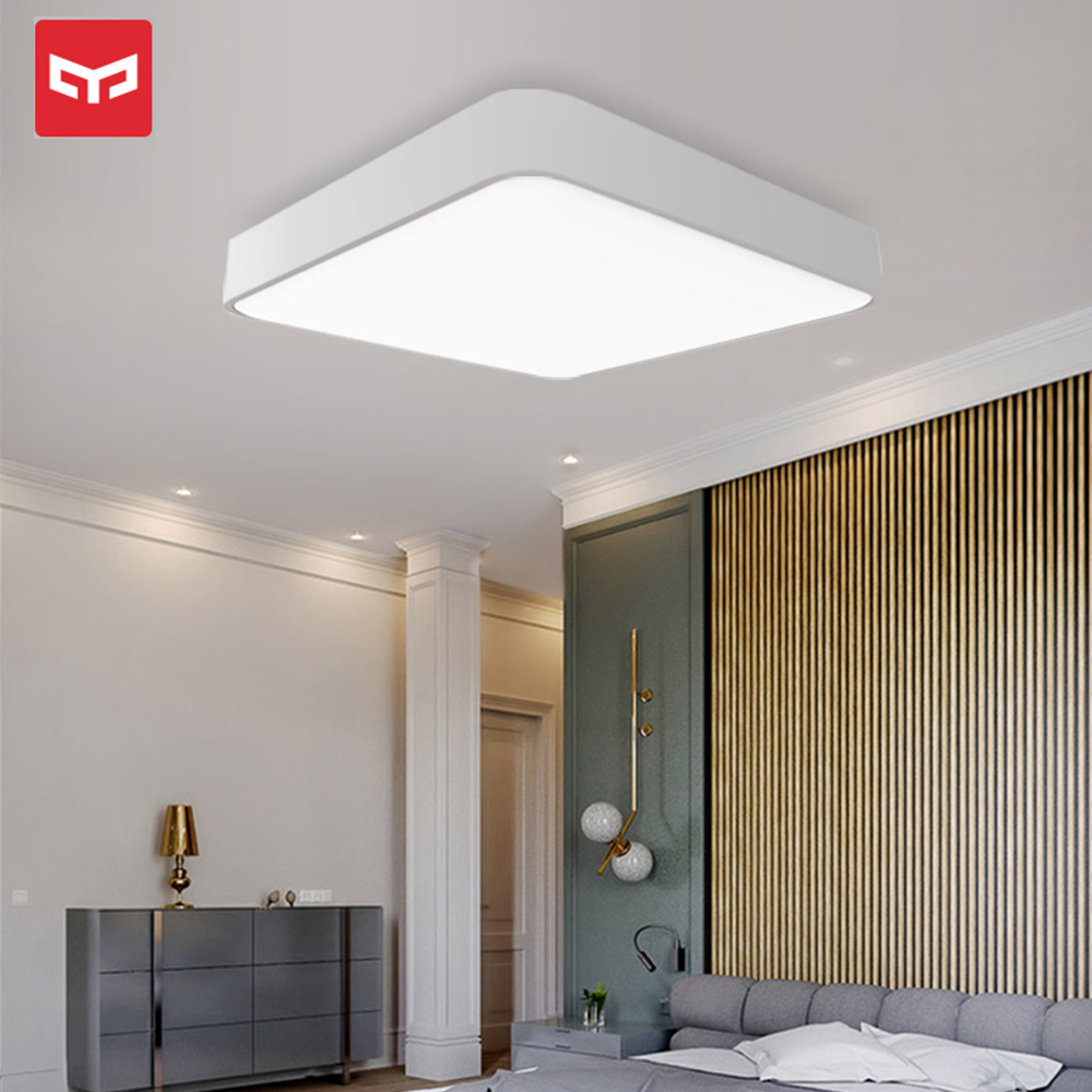 Original Xiaomi Yeelight Smart plafonnier carré 500mm lampe intelligente veilleuse Mijia Mobile APP télécommande-in Télécommande connectée from Electronique    1