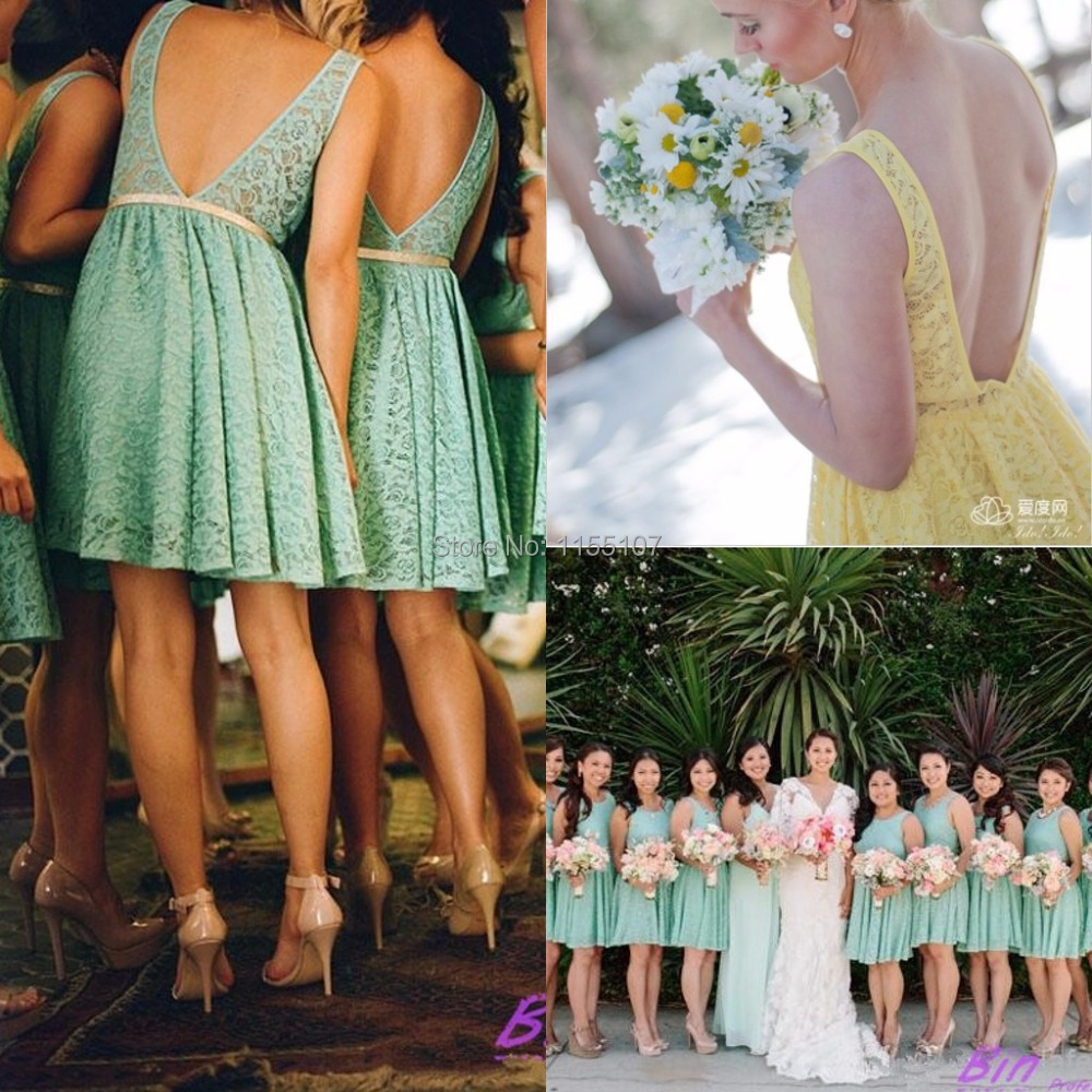 Cheapest 2016 new arrival country style bridesmaid dresses open cheapest 2016 new arrival country style bridesmaid dresses open back short lace bridesmaid dress a line teal bridesmaid dresses in bridesmaid dresses from ombrellifo Choice Image