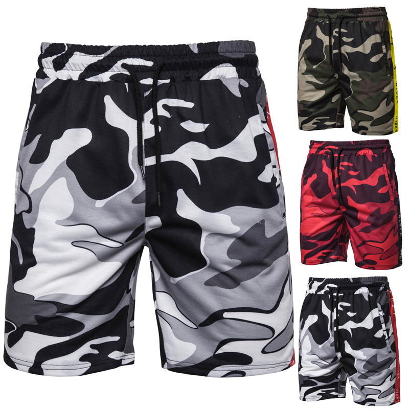 Men's 2019 New Men's Camouflage Outdoor Sports Shorts Fashion Casual Shorts