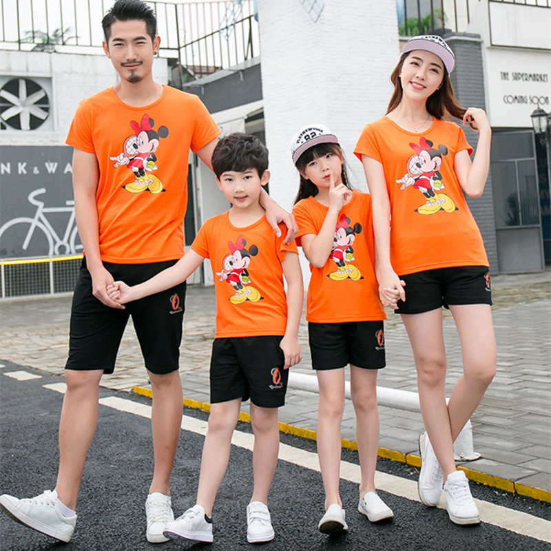 Household Matching Garments Summer season Mom Daughter Minnie Mouse Tshirt Dad and Me Mickey Cotton T-shirt Outfits Youngsters Garments Matching Household Outfits, Low-cost Matching Household Outfits, Household Matching Garments...