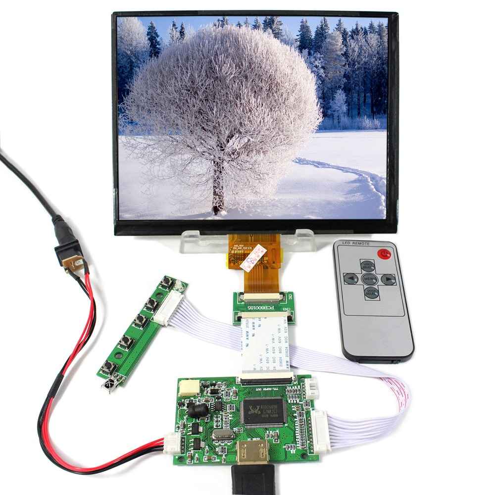 HDMI LCD Controller Board With 8inch 1024X768 HJ080IA-01E IPS LCD Screen new original package innolux 8 inch ips high definition lcd screen hj080ia 01e m1 a1 32001395 00