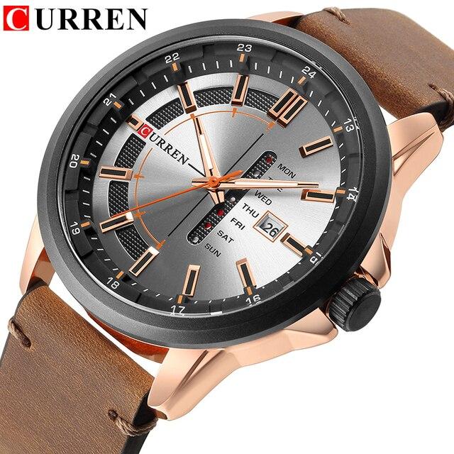 CURREN Luxury Casual Men Watches Military Sports Watch Analog Quartz Wristwatch Display Calendar Relogio Masculino Montre Homme