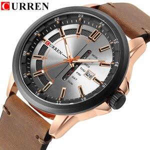 Image 1 - CURREN Montre de luxe pour hommes, Montre bracelet de sport militaire, analogique, à Quartz, affichage calendrier, décontracté