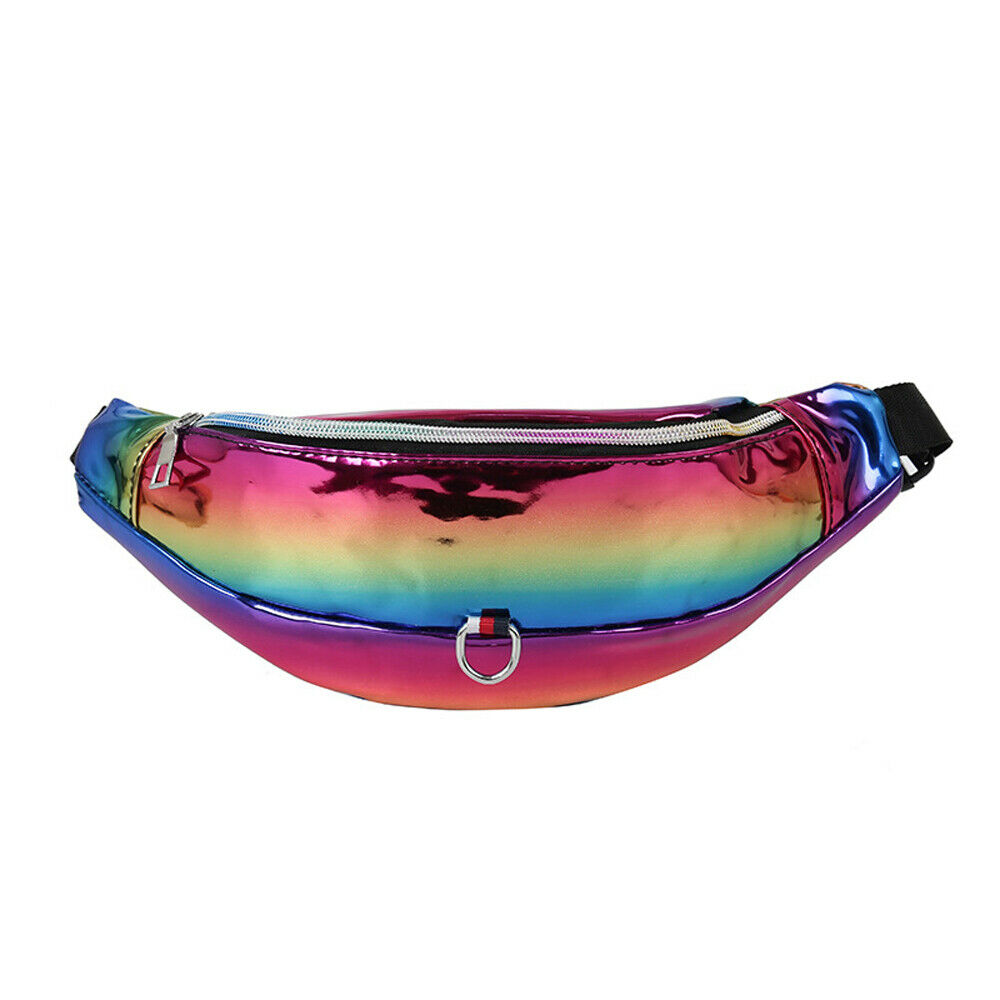 Men's Women's Universal Fanny Pack PU Leather Candy Color Waist Bag Fashion Casual Chest Bag