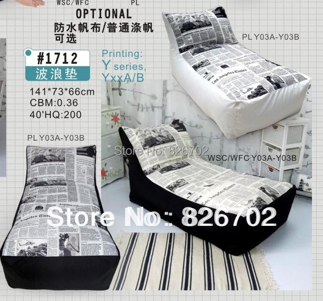 Projeto do saco de feijão cobre sofá preguiçoso cadeira mobiliário interior removível e lavável D70 * H110CM frete grátis