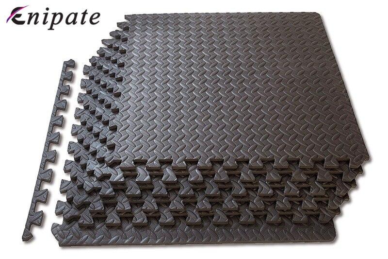 Enipate 1 PC Coffee Interlocking EVA Soft Foam Exercise Floor Mats Rug Children Play Mats Gym Garage House Office Mat 30*30*1cm