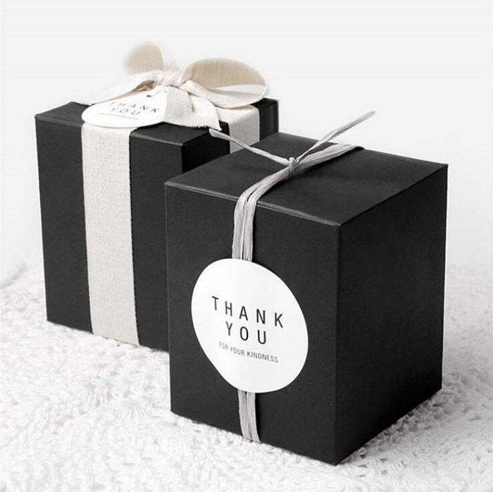 candy box bag chocolate cookie apple paper gift package for Birthday Wedding Party favor Decor supplies DIY black/white/khaki packaging and labeling