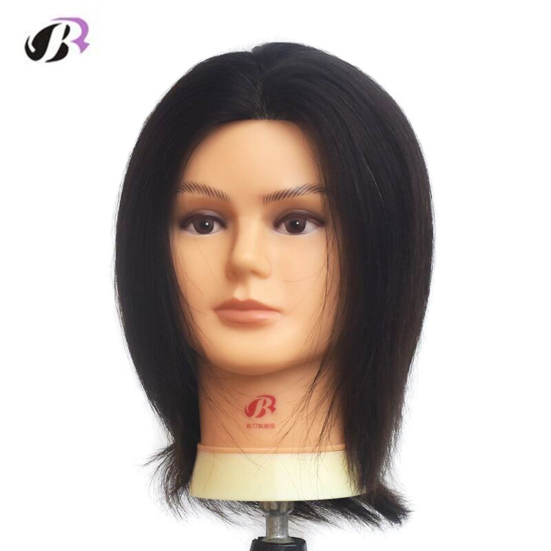 10″ Mannequin Head with Human Hair Maquiagem Head with Wigs Cosmetology Head Dolls for Hairdressers Training Head with Humanhair