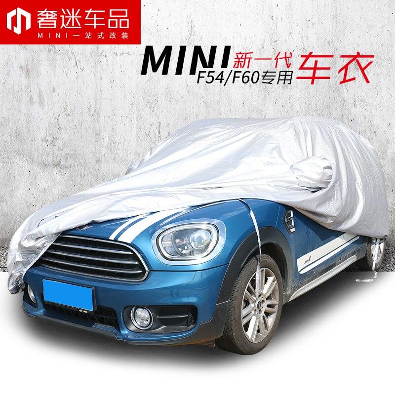 1 pièces taille spéciale gris PEVA bâche de voiture couverture anti-poussière voiture style Auto accessoires pour BMW MINI clubman F54F60 countryman