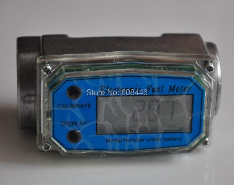 3/pack débitmètre de carburant Diesel numérique 3/4 pouces Turbine BSPT/NPT L/Min Gallon
