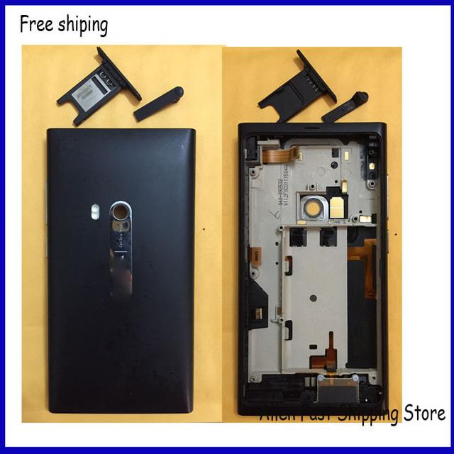 Capa Nokia N9, para habitação porta da bateria caixa traseira com porta USB + Sim Tray, preto + código de rastreamento