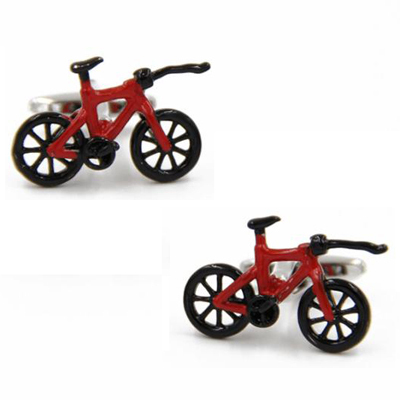 Enamel Bike Bicycle Cufflink Cuff Link 15 Pairs Wholesale Free Shipping