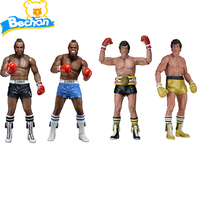 Scorching Film Rocky III Rocky Three Balboa 1/eight Scale Painted Motion Determine 40th Anniversary Clubber Lang Rocky Dolls PVC Collectible figurines