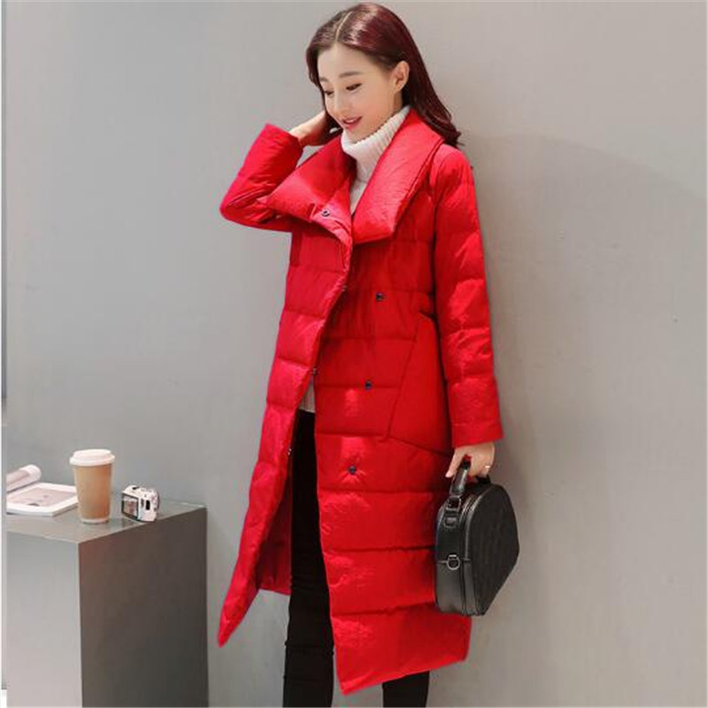 New Winter Thick Stand Collar Long Down Cotton Jacket Women Warm Covered Button High Quality Lady Padded Parka Women Coat TT3232 цены онлайн