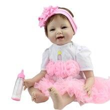 55 cm de Vinilo de Silicona Bebé Reborn Muñecas adora chucky Hecho A Mano Kids Princess Juguetes Niños bebe muñeca bjd reborn bonecas