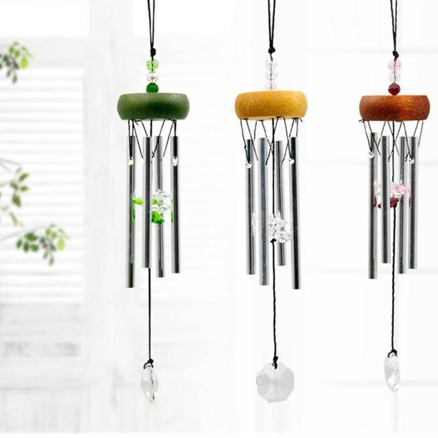 Handcrafts Crystal Metal Wind Chimes Japan Style Home Hanging Ornaments  Pendant Outdoor Garden DIY Campanula Music