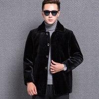 1765 New Fashion Sheepskin jacket Men' Wool Blends Coat Short Men's Sheep Fur Coat Man Jacket Coat