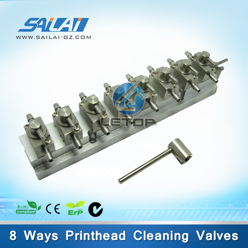 High quality!!printhead cleaning valves unit 8 ways