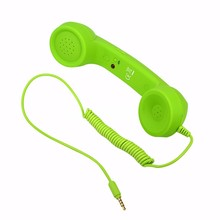 3.5mm Jack Classic Retro Phone Handset Mini Mic Speaker Phone Call Receiver for Iphone Samsung Huawei