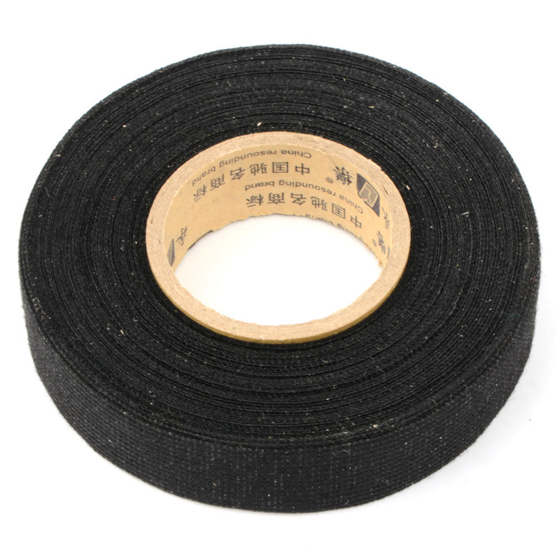 1Pc 19mmx15m Tesa Coroplast Adhesive Cloth Tape For Cable Harness Wiring Loom P0.05