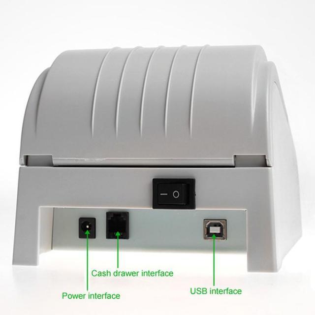 Хорошие Продажи ZJ-5890T 58 мм Термопринтер 58 мм Тепловая Чековый Принтер 58 мм POS Принтер USB США Plug Июля 25