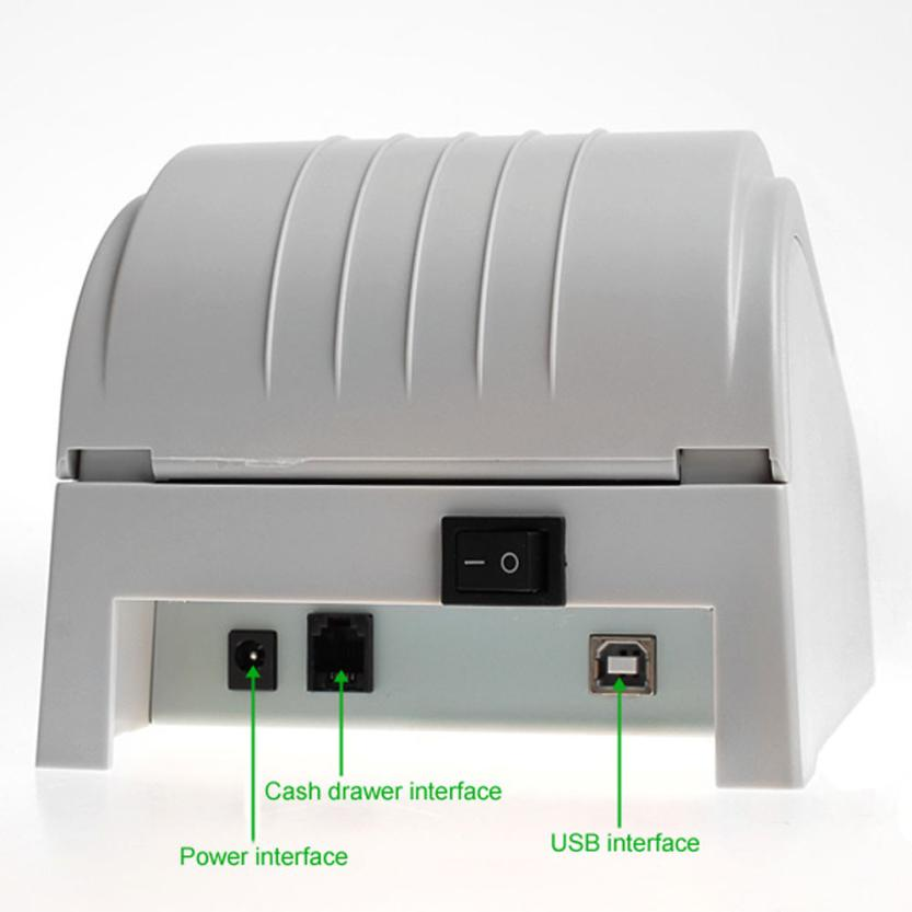 ФОТО Good Sale ZJ-5890T 58mm Thermal Printer 58mm Thermal Receipt Printer 58mm USB POS Printer US Plug Jul 25