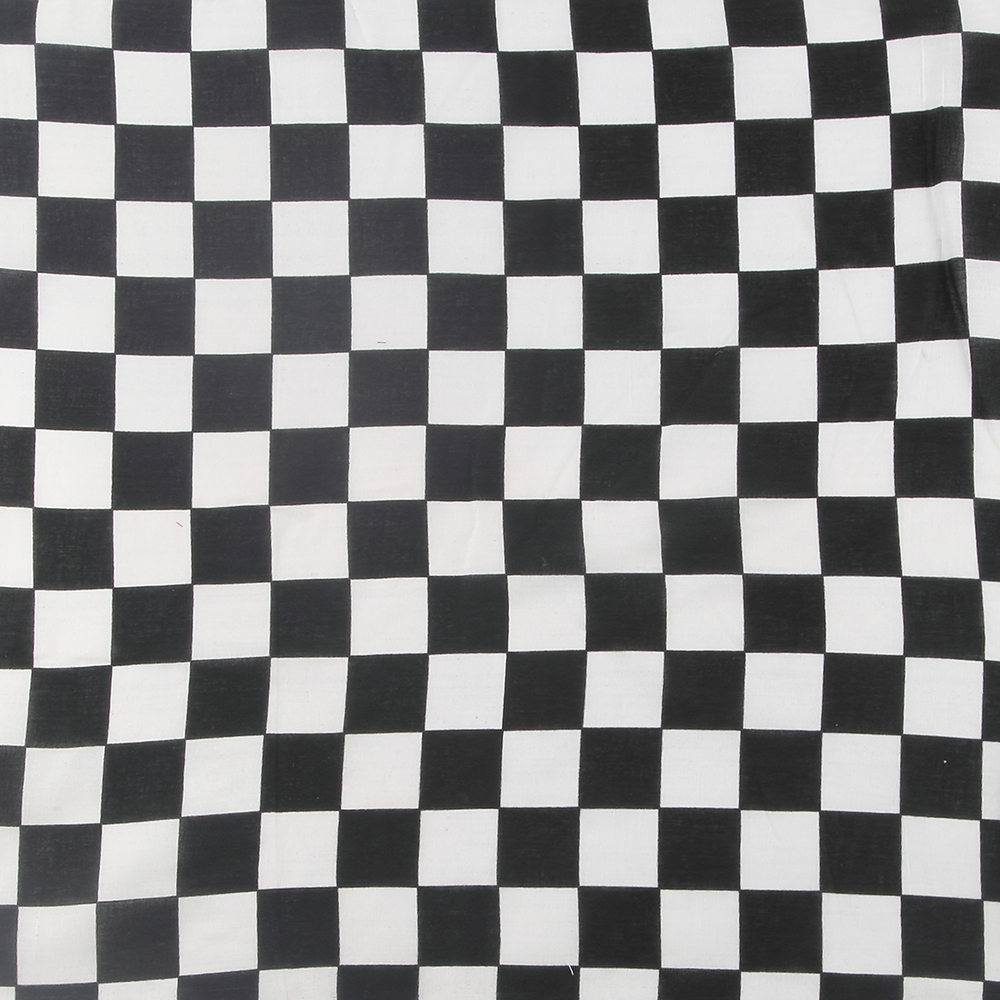 Winfox New Women Mens Black White Plaid Check Bandana Headwear Scarf