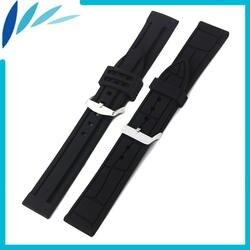 Силиконовый резиновый ремешок для часов 20 мм 22 мм 24 мм для Breitling ремешок на запястье петля ремень браслет черный Мужчины Женщины + Весна Бар +