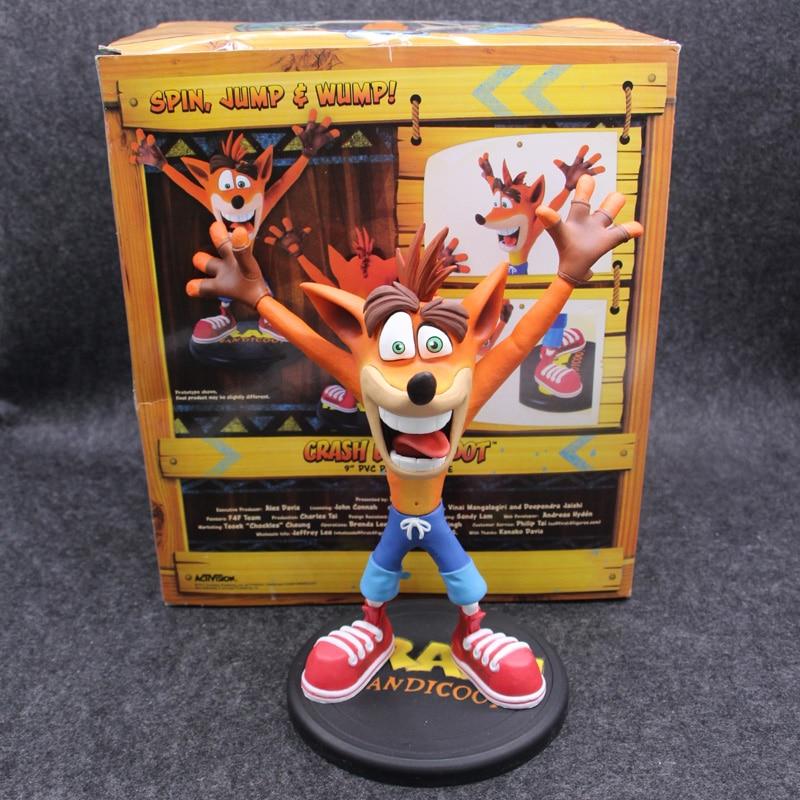 Anime Crash Bandicoot Action Figure Game Crash PVC Collectible Model Toys 22.5cm