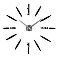 2016 free shipping new wall clock watch clocks Circular relojde pared home decoration acrylic special sticker Living Room Needle