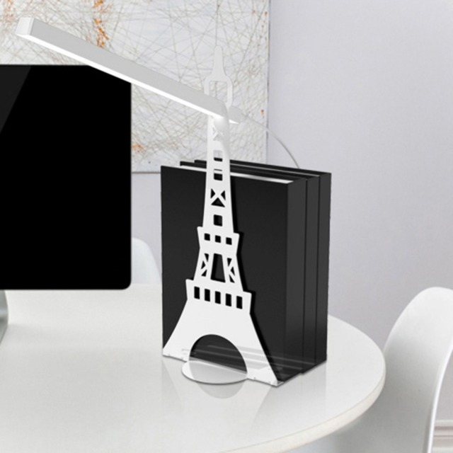 Creative Bedroom Table Lamp Eye Care Desk Simple Portable Bookshelf Reading Light Paris Eiffel Tower