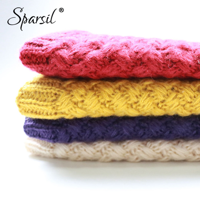 Warm Knitted Ring Scarves w/ Thick Fleece Inside
